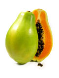 Papaia affettata Fotografia Stock Libera da Diritti