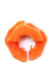 Papaia affettata   Fotografia Stock