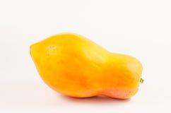 Papaia amarela fresca Fotos de Stock