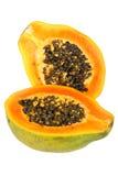 Papaia (Carica papaya) Immagini Stock