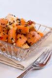 Papaia del Vegan ed insalata del tofu Fotografia Stock Libera da Diritti