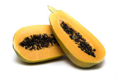 papaia dolce su fondo bianco Fotografia Stock