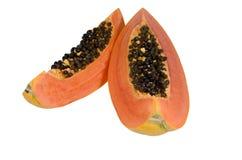 Papaia dolce sull'isolato. Fotografie Stock