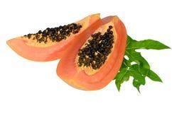 Papaia dolce sull'isolato. Fotografia Stock Libera da Diritti