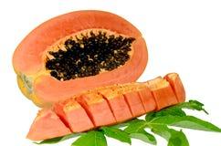 Papaia dolce sull'isolato. Immagine Stock Libera da Diritti