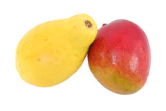 Papaia e mango Fotografie Stock