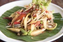 Papaia fermentata, alimento tailandese Immagini Stock