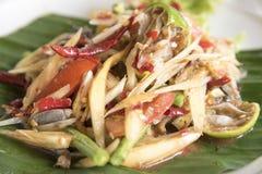 Papaia fermentata, alimento tailandese Immagine Stock Libera da Diritti