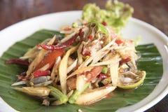 Papaia fermentata, alimento tailandese Immagine Stock