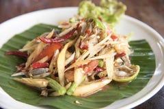 Papaia fermentata, alimento tailandese Fotografia Stock Libera da Diritti