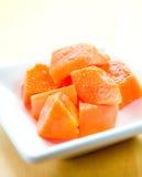 Papaia fresca deliciosa e saudável fotografia de stock royalty free