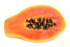 Papaia gialla fotografie stock libere da diritti