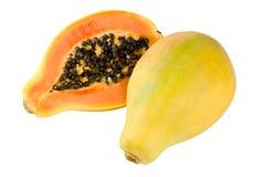 Papaia gialla Fotografie Stock