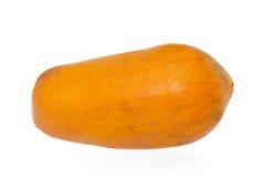 Papaia gialla su fondo bianco Fotografia Stock Libera da Diritti