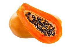 Papaia isolada no branco Imagens de Stock Royalty Free