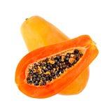 Papaia isolada no branco Imagens de Stock