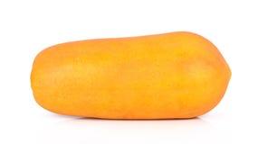 Papaia madura em um fundo branco Fotografia de Stock