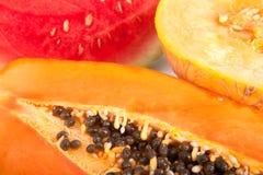 Papaia, melone ed anguria Fotografie Stock Libere da Diritti