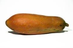 Papaia ou pata-pata isolada no branco imagens de stock royalty free