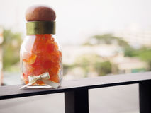 Papaia secca Fotografia Stock