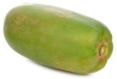 Papaia verde isolata su fondo bianco immagine stock libera da diritti