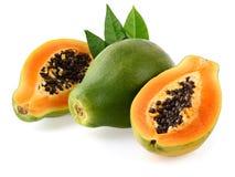 papaja świeże Obrazy Stock