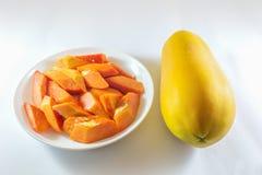 papaja świeże Fotografia Royalty Free
