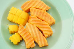 Papaja en Mango Royalty-vrije Stock Foto's