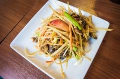 papaja sałatka tajska tradycyjne tajskie jedzenie Fotografia Stock