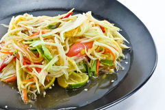 Papaja Thaise Kruidige Salade stock fotografie