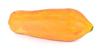 Papajafruit op een witte achtergrond wordt geïsoleerd die Stock Foto's