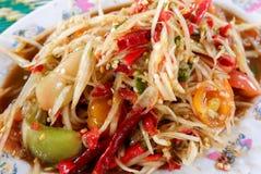 Papajasalade Thailand Royalty-vrije Stock Afbeelding