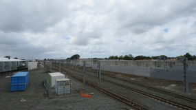 Papakura rail station. Photo was taken at papakura, New Zealand stock photos