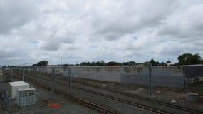 Papakura rail station. Photo was taken at papakura, New Zealand stock image