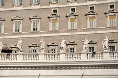 The Papal apartments in the Vatican city. VATICAN CITY - MARCH 12, 2016: The Papal apartments in the Vatican city is the place where Pope Francis I holds the stock images