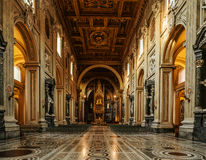Papal Archbasilica of St. John in Rome, Italy. ROME, ITALY - JANUARY 23 2015: Papal Archbasilica of St. John in Lateran or just The Lateran Basilica, is royalty free stock images