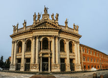 Papal Archbasilica of St. John in Rome, Italy. The Papal Archbasilica of St. John in the Lateran or just The Lateran Basilica, is the cathedral church of Rome Royalty Free Stock Photography