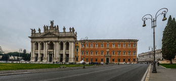 Papal Archbasilica of St. John in Rome, Italy. The Papal Archbasilica of St. John in the Lateran or just The Lateran Basilica, is the cathedral church of Rome royalty free stock images