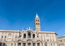 The Papal Basilica of Saint Mary Major in Rome, Italy. Royalty Free Stock Photos
