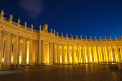 The Papal Basilica of Saint Peter in the Vatican (Basilica Papal. E di San Pietro in Vaticano royalty free stock photography