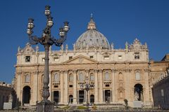 The Papal Basilica of Saint Peter in the Vatican (Basilica Papal Stock Image