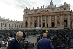 The Papal Basilica of Saint Peter in the Vatican (Basilica Papale di San Pietro in Vaticano). The Papal Basilica of Saint Peter in the Vatican Royalty Free Stock Photography