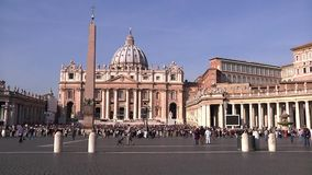 The Papal Basilica of Saint Peter. Vatican City, Vatican stock video footage
