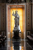 Papal Basilica of Saint Peter in the Vatican Interior. VATICAN CITY, VATICAN - Nov 20, 2015: Papal Basilica of Saint Peter in the Vatican Interior. The statue of royalty free stock photography