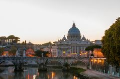 Saint Peter`s Basilica in Vatican City, Italy royalty free stock photography