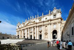 The Papal Basilica of Saint Peter in the Vatican Stock Photo