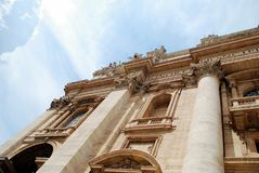 The Papal Basilica of Saint Peter in the Vatican Royalty Free Stock Photos
