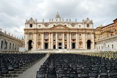 The Papal Basilica of Saint Peter in the Vatican Royalty Free Stock Photography