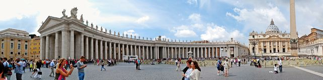 The Papal Basilica of Saint Peter in the Vatican. ROME, ITALY - MAY 31: The Papal Basilica of Saint Peter in the Vatican city on May 31, 2014, Rome, Italy stock photo