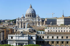 Papal Basilica of Saint Peter in the Vatican. Saint Peter's Basilica, the world's largest church, is the center of Christianity royalty free stock images